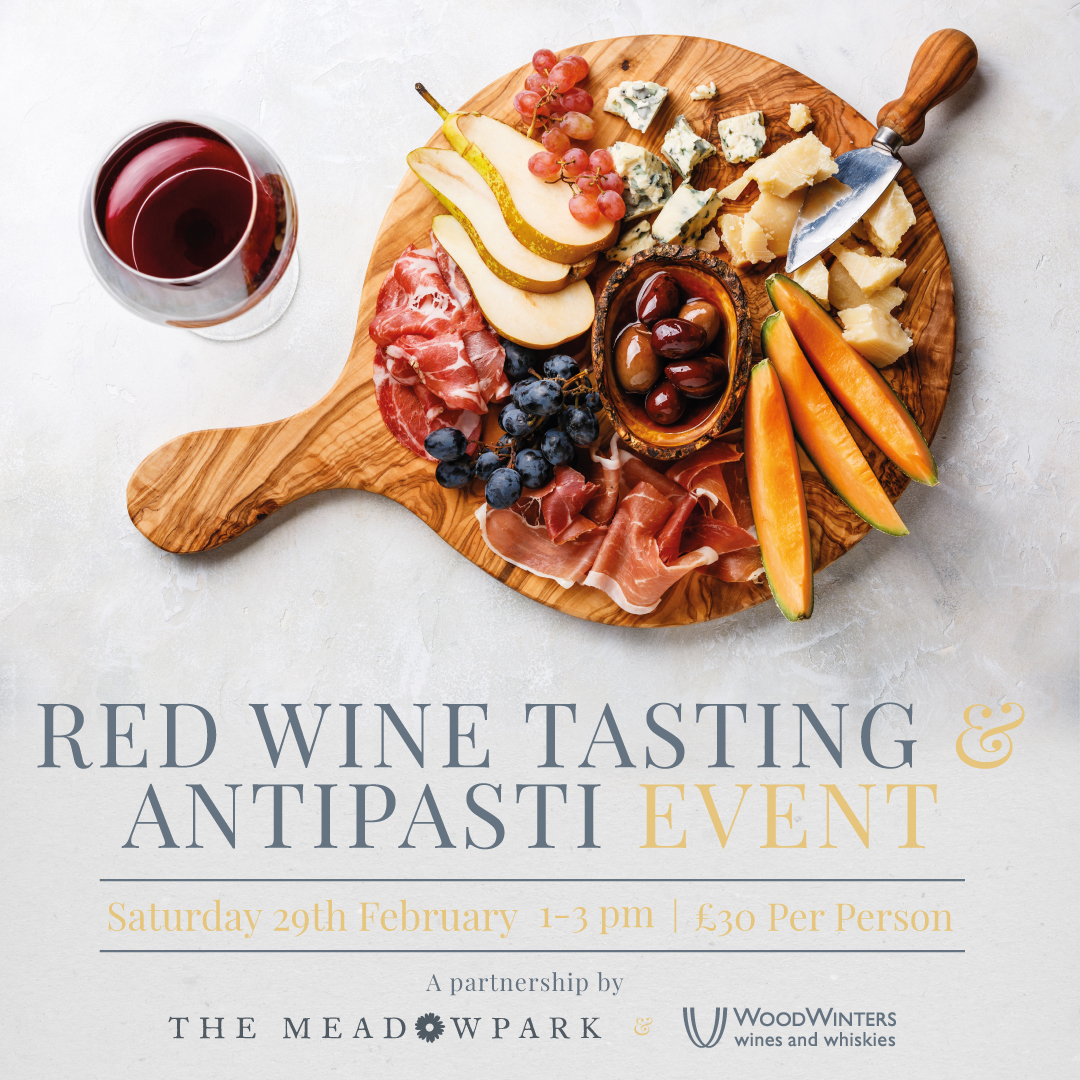 Join us for a Red Wine Tasting & Antipasti event on Saturday 23rd November from only £30 per person